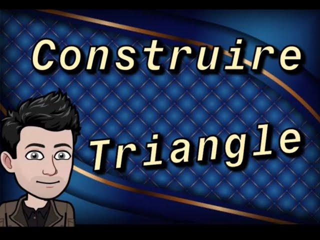 Construction triangle à la règle, compas et rapporteur - Exercice Maths 5ème