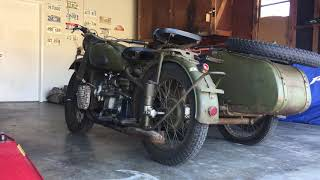 1953 М-72 (1953 m-72 - a copy of the BMW R71)