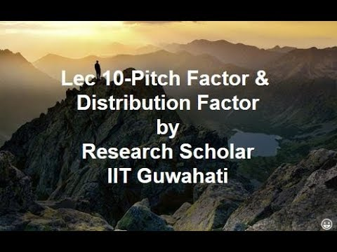 Lec 10-Pitch Factor & Distribution Factor,Electrical Machines || Electrical Engineering