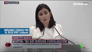 Las respuestas de la ministra Montón sobre las irregularidades de su máster en la URJC