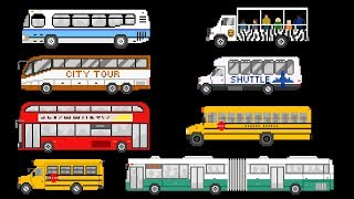 Buses: Book Version - Street Vehicles - The Kids' Picture Show (Fun & Educational Learning Video)