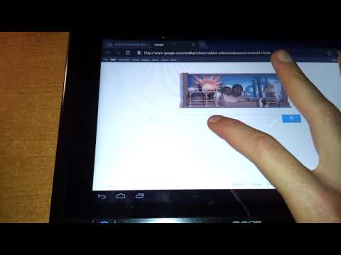 Android 4.0 Ice Cream Sandwich preview on Acer Iconia Tab W500