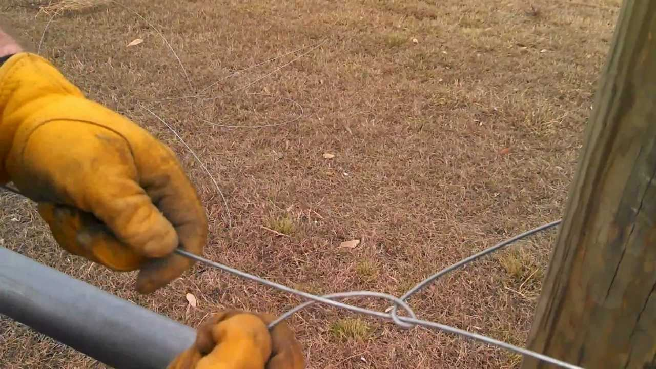 Tying Off High Tensile Wire - YouTube