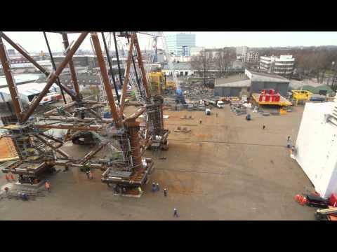 Timelapse Building a JACKET GDF SUEZ E&P Nederland / HSM OFFSHORE YARD