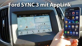 Ford SYNC 3 mit AppLink erklärt im S-Max | deutsch