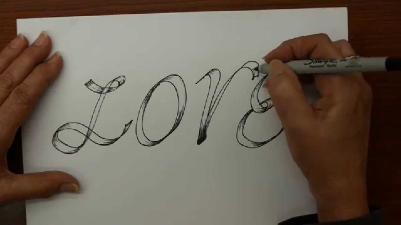 How to draw love in graffiti tattoo style