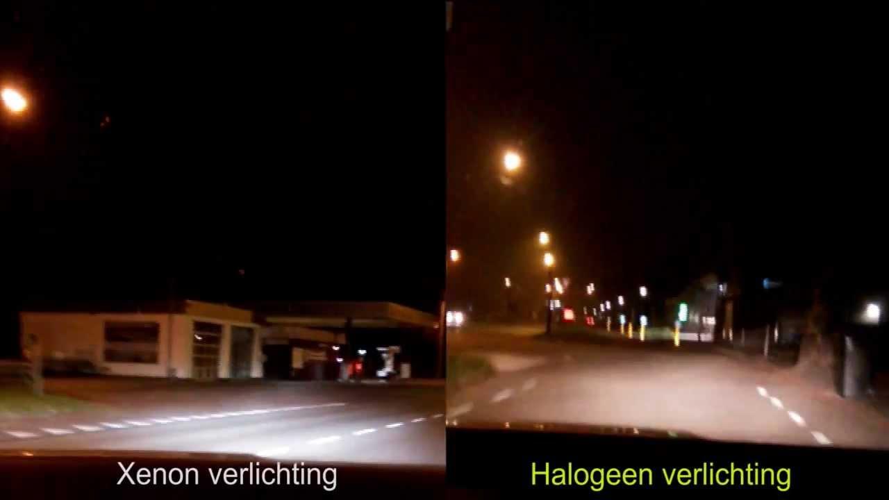 Pilot Xenon vs Halogeen verlichting - YouTube