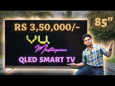"VU Masterpiece TV 85"" With Core i5 Windows 10   4K Camera   VU QLED TV"