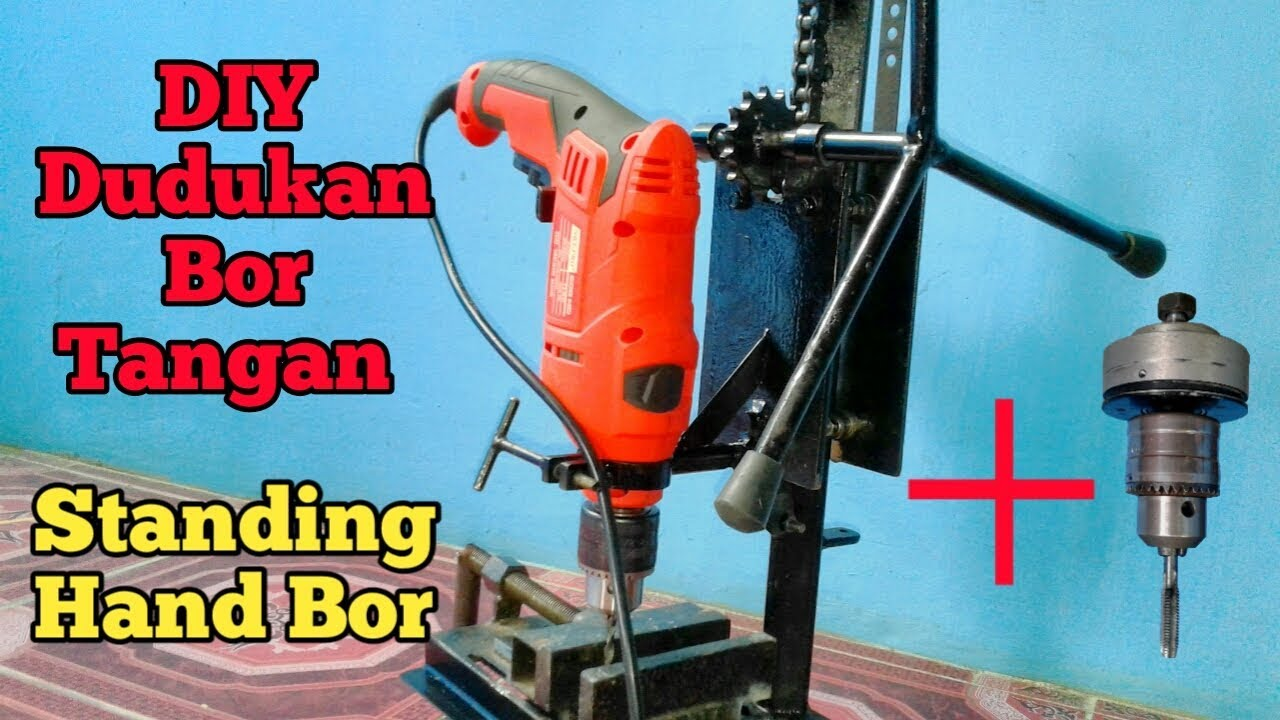 DIY Stand Hand Bor /Dudukan Bor Tangan