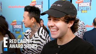 "David Dobrik Is ""Terrified"" of Green Slime at Nickelodeon KCS 2019 | E! Red Carpet & Award Shows"