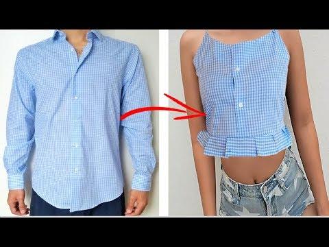 RECICLAR ROPA VIEJA SIN MÁQUINA - DIY CROP TOP - TRANSFORM YOUR OLD CLOTHES