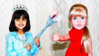 Sharing is Caring Toy Story for Kids | Ashu as Princess Elsa | Katie Cutie Show