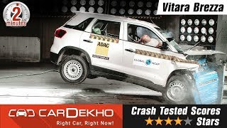 Maruti Suzuki Vitara Brezza Crash Test Video | All Details #In2Mins