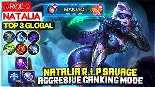 Natalia R.I.P SAVAGE, Aggresive Ganking Mode [ Top 3 Global Natalia ] ♧ᏒᏬᏝ♧ -  Mobile Legends