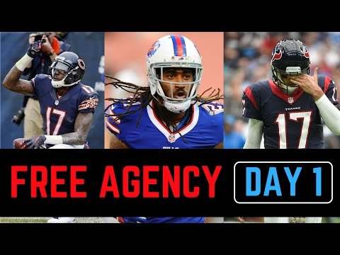 NFL Free Agency Live Analysis 3/9/2017 Recap and Reactions