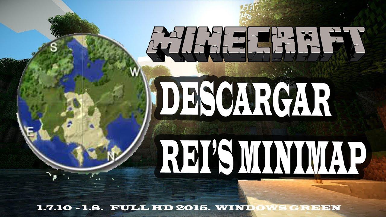 Descargar E Instalar Reis Minimap Para Minecraft MOD - Mini map para minecraft 1 10 2