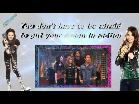 iCarly Cast Ft Victorious Cast   Leave It All To Shine Lyrics HD