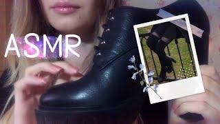 АСМР Моя Кожаная Обувь Звуки Кожи Постукивания Скрип Leather Sounds Tapping Squeaking ASMR