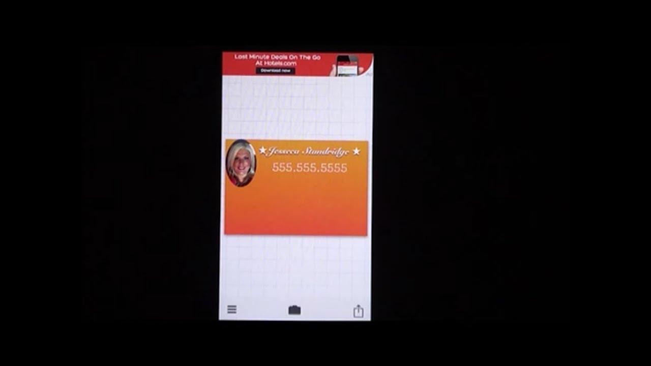 How to create a virtual business card youtube colourmoves