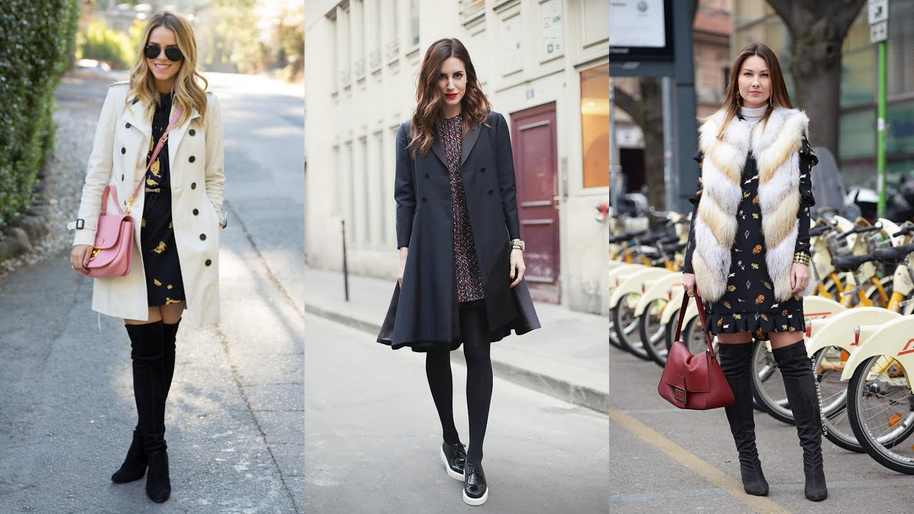 20 Casual Dress Outfit Ideas for Winter Days - YouTube