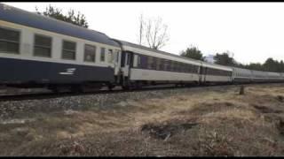 67456-67488 de retour sur Paris. Pointes Hivernales, train Couchettes