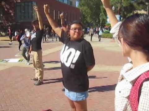 UCLA students burn MAGA hat 2