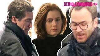 Jake Gyllenhaal, Amy Adams & Tom Ford Film Nocturnal Animals In Beverly Hills 11.16.15