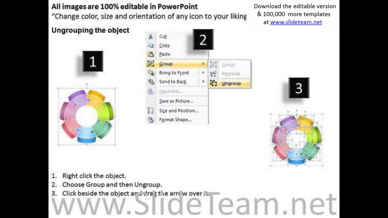 7 Stages Circular Puzzle Flow Chart Day Business Plan Template