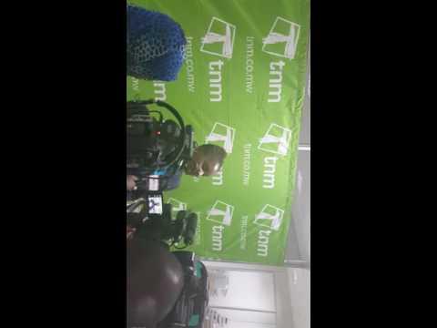 Edith Jiya, Acting  CEO of Old Mutual Malawi briefing the press on the newly lauched Mpamba Fesa