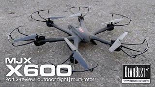 MJX X600 hexacopter - PART 2 outdoor flight
