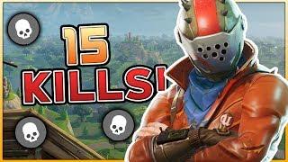 15 KILL GAME! NEW PERSONAL KILL RECORD IN FORTNITE BATTLE ROYALE!