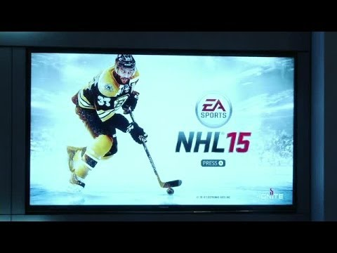 Patrice Bergeron joins EA Sports NHL 15 Launch