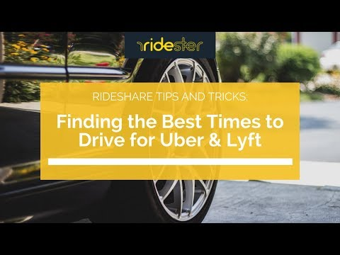 Finding the Best Times to Drive for Uber & Lyft