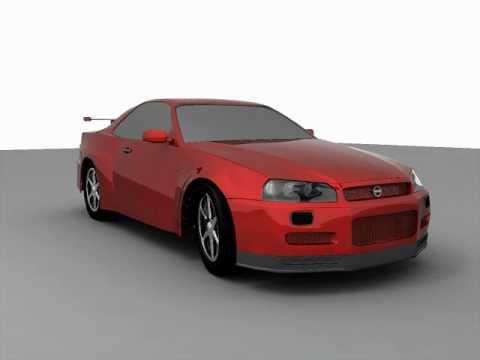 Nissan Skyline Gt R Render Test In Autodesk Maya 2011 Youtube
