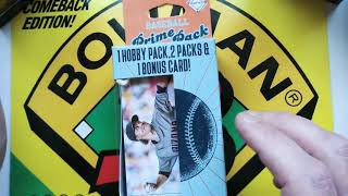 New Fairfield Baseball Prime Pack Review And Opening.  Baseball Prime Pack