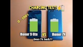 CHARGING TEST - HUAWEI HONOR 7X VS HONOR 9 LITE!