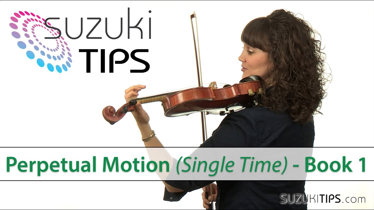 perpetual motion single time suzuki violin book 1 learning