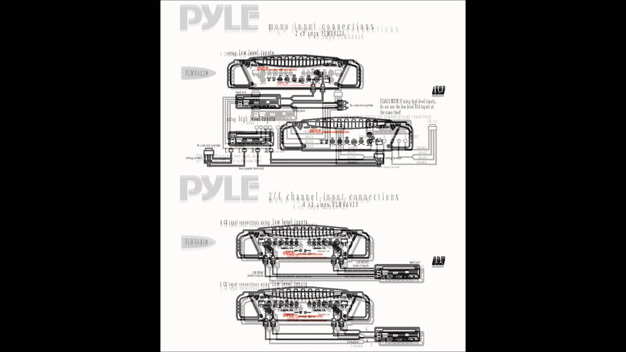 marine amplifier wiring kit 3 way active crossover circuit diagram pyle plmra400 28 images