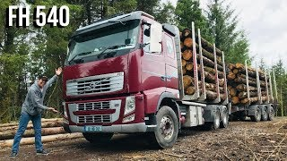 VOLVO FH 540 Test Drive (Forestry Work Load) LH Weigh Pro System