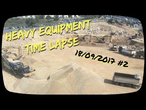 Heavy Equipment Time Lapse , Jerusalem 170918 #2