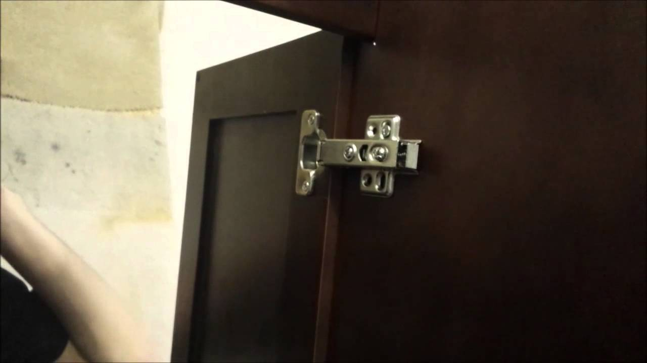 how to adjust cabinet door hinges   youtube  rh   youtube com