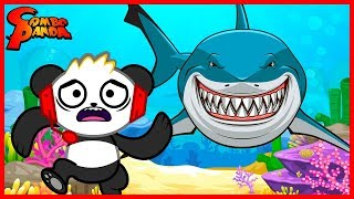 FLEE FROM THE ANGRY SHARK! Let's Play Roblox Shark Bite