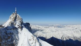 Aiguille du Midi , Vallée Blanche Off piste Skiing , drone Phantom 3 , ski with gopro4