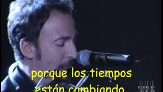 The Times They Are A Changin' Bob Dylan Tribute   Bruce Springsteen   1997 Kennedy Center Honorssub