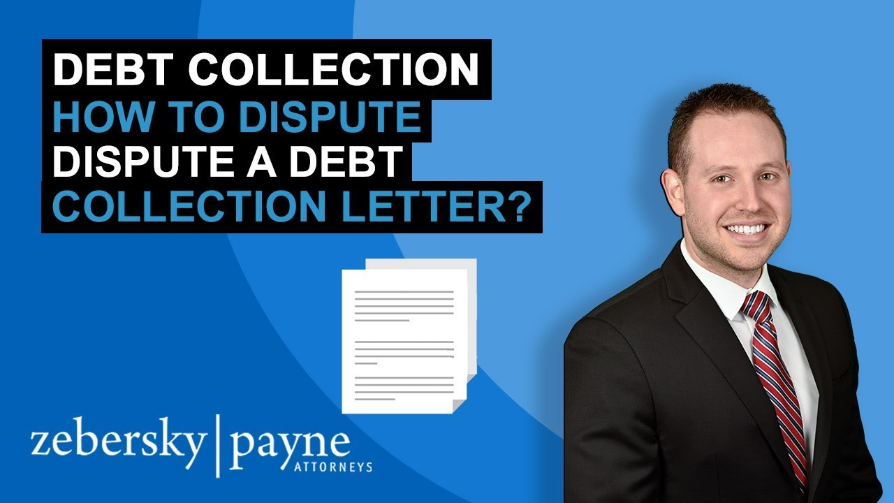 Debt Collection  How To Dispute A Debt Collection Letter  Youtube
