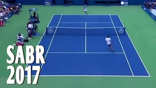 ROGER FEDERER : A Collection of SABR in 2017 (SABR = Sneak Attack By Roger)