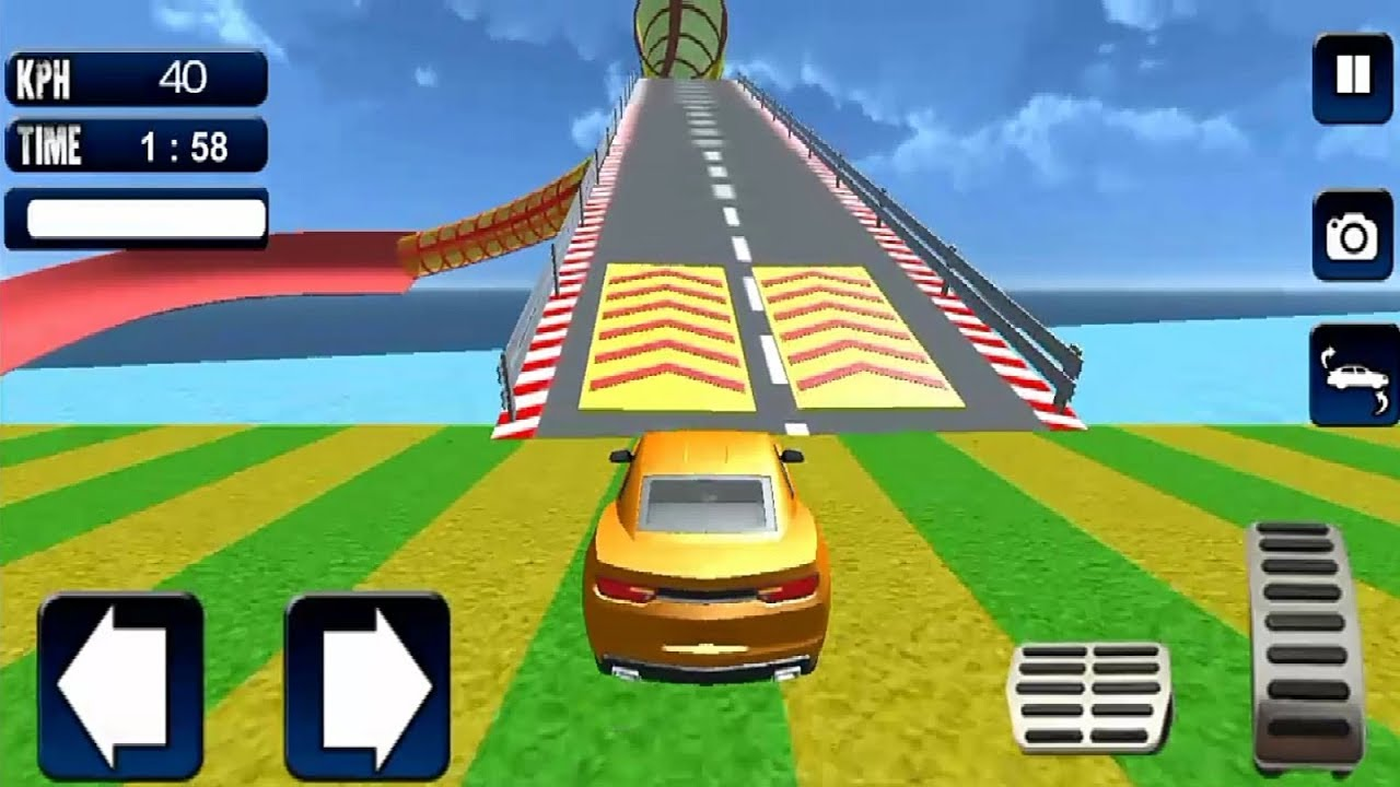Free Car Extreme Stunts Game Android Gameplay Car