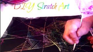 DIY Scratch Art (With Acrylic Paint)
