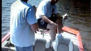 RanGary Steve catches Blue Catfish ouachita river louisiana stray dog story