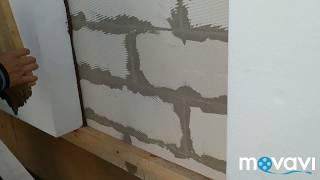 Как приклеивается пенопласт на фасад дома, обучение рабочих правилам приклейки пенопласта